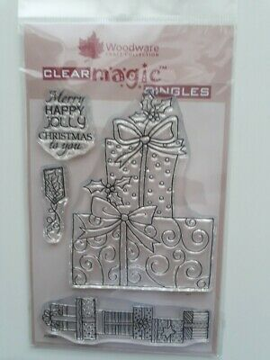 Woodware Clear Stamp Spotty Presents • 3.50£