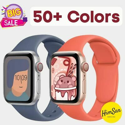 $ CDN5.02 • Buy Soft Silicone Sport Band Strap For Apple Watch Series 6 5 4 3 2 1 SE 38 42 Mm