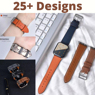 $ CDN5.02 • Buy High Quality PU Leather Loop Band Strap For Apple Watch Series 6 SE 5 3 2 1 42mm