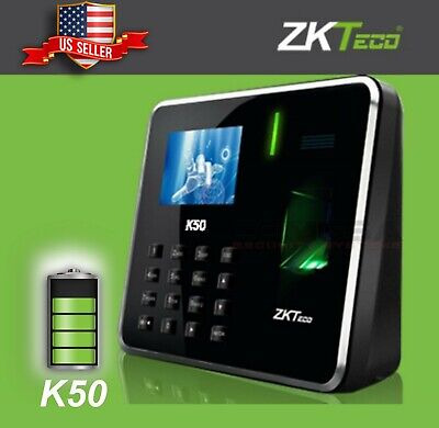 AU233.12 • Buy ZKteco Fingerprint K50. Time Attendance Biometric With Battery Employer Clock US