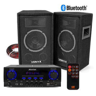 £105 • Buy SL6 HiFi Speaker Set And Stereo Amplifier, Bluetooth MP3 Home Audio Music System