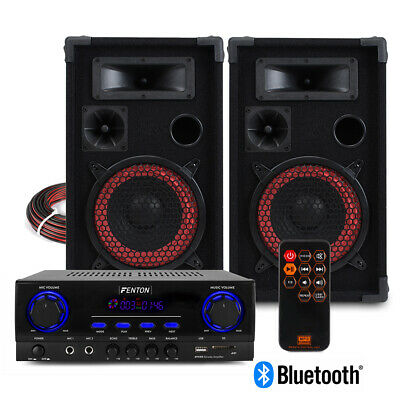 XEN HiFi Speaker Set And Stereo Amplifier, Bluetooth MP3 Home Audio Music System • 130£