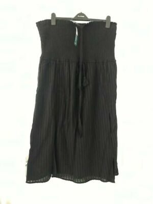 NEW Marks & Spencers Beach Dress RRP £25 Strapless Cover Up Bandeau Top BLACK 12 • 9.99£