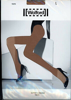 Collants WOLFORD Support & Forming Tights– Taille L – Couleur Opera – Neuf • 7.76£