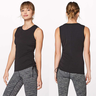 $ CDN33 • Buy Lululemon Black Pima Cotton Cinch It Tank | Women's 6