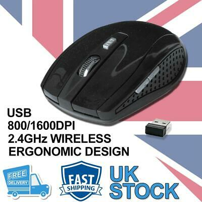 £5.69 • Buy 2.4 GHz Wireless Cordless Mouse Mice Optical Scroll For PC Laptop Computer + USB