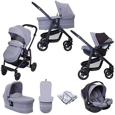 Graco Evo (SnugEssentials Car Seat) Travel System With Carrycot -  Grey • 589£