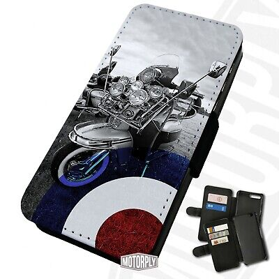 £9.75 • Buy Printed Faux Leather Flip Phone Case For IPhone - Mod-Scooter-Large-Logo