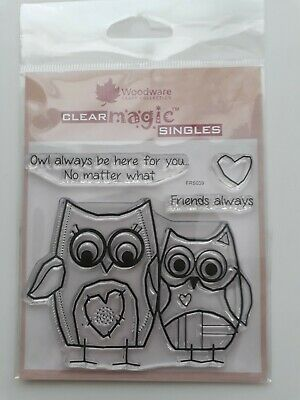 Woodware Clear Stamp- Owl Friends • 3.50£
