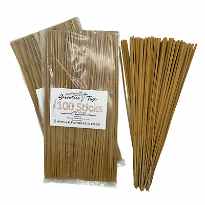 £4.20 • Buy 100 UNSCENTED Incense STICKS High Quality Unfragranced Neutral Natural Raw DIY A