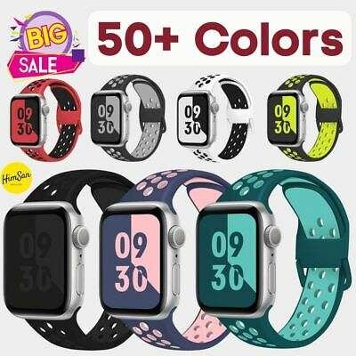 $ CDN5.04 • Buy Soft Silicone Sport Band Strap For Apple Watch Series 1 2 3 4 5 6 SE IWatch 42mm