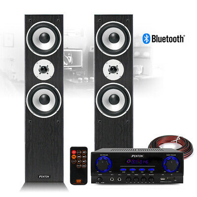 £155 • Buy SHFT60 HiFi Tower Speakers And Stereo Amplifier Bluetooth MP3 Home Music System
