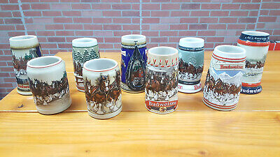 $ CDN146.12 • Buy Lot Of 9 Budweiser Beer Clydesdale Holiday Christmas Stein Mug And More