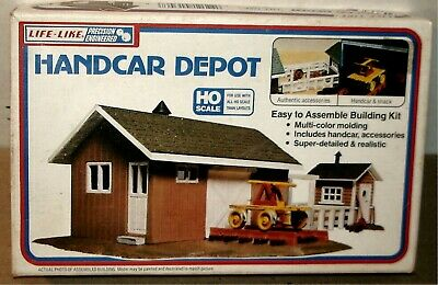 $ CDN22.09 • Buy Life-like - Handcar Depot Building Kit #1346  - Ho Train Ob