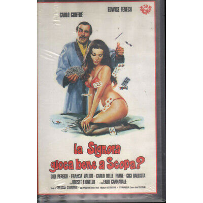The Signora Play Well IN Mop? VHS Carlo Giuffre' / Edwige Fenech Sealed • 50.71£