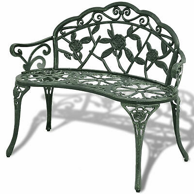 2-seater Garden Bench Outdoor Chair Patio Seat Furniture Green Cast Green H5T7 • 150.74£