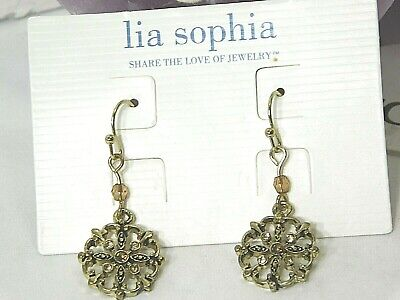 $ CDN11.46 • Buy Beautiful Lia Sophia  TRANQUILITY  Dangle Pierced Earrings, Cut Crystals, NWT
