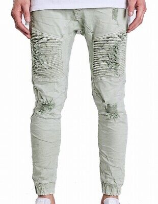 AU63 • Buy NXP Mens Jeans Green Size 38X29 Ripped Destroyer Biker Joggers