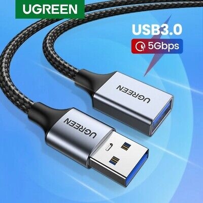 AU14.95 • Buy Ugreen USB 3.0 Extension Cable Super Speed Braided USB Cable Data Extender Lead