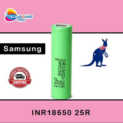 AU10.49 • Buy Samsung 25R 2500mAh INR Lithium Li-ion High Drain Rechargeable Battery Authentic