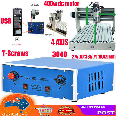 AU978 • Buy 3040 CNC Router Engraver 4Axis USB Metal Woodwork Cutting Milling Machine Cutter