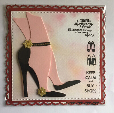 Hand Made Card Topper  KEEP CALM AND BUY SHOES • 1.90£
