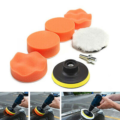 6 Pcs/Set 3  Buffing Waxing Polishing Sponge Pads Kit Set For Car Polisher Drill • 5.60£