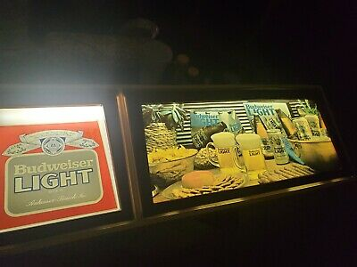 $ CDN252.52 • Buy Very Rare Budweiser Neon Bar Lighted Sign Vintage 80's Mancave Beer Bud Light