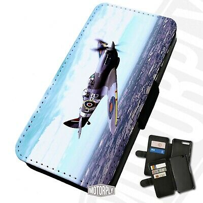 Printed Faux Leather Flip Phone Case For IPhone -  Spitfire-Countryside • 9.75£