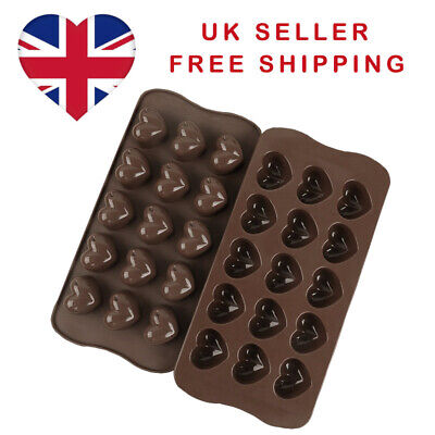 £2.99 • Buy Love Heart 15 Cell Silicone Chocolate Wax Melt Soap Jelly Ice Mould Baking UK