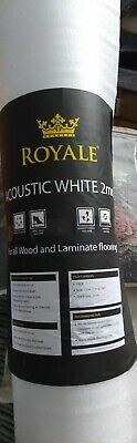 Acoustic White Foam Laminate Engineered Wood Flooring Underlay 2 Roll Pack • 15£