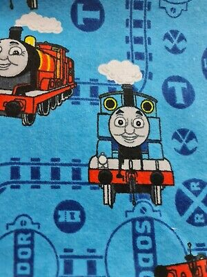 £11.99 • Buy THOMAS THE TANK ENGINE Brushed Cotton  Fabric 45  Wide Sold By Meter