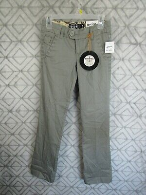 $14.99 • Buy New Freestyle Revolution Pants Size 1 Juniors Gray Flat Front Button Zipper