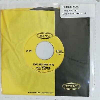 £3.64 • Buy MAC CURTIS Love's Been Good To Me / The Quiet Kind 1968 45 Epic 5-10324