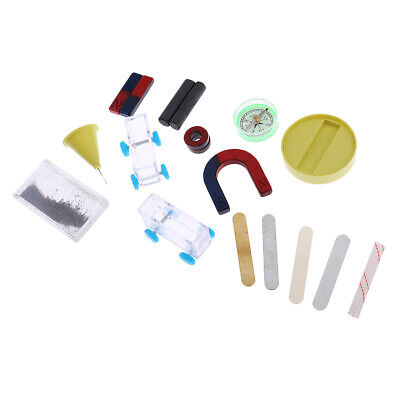 AU15.46 • Buy Portable Science Box Experiment Props Magnet Kit For Home School Teaching