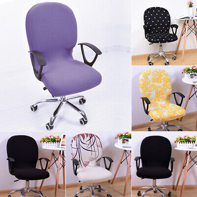 AU10.33 • Buy S-wivel Chair Cover Stretchable Removable Computer Office Washable Rotating Lift