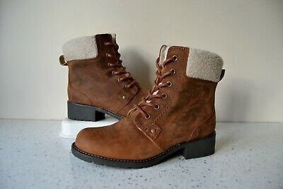 New Odd Size Clarks Orinoco Dusk Tan Leather Ankle Boots Uk 4d Left Uk 5d Right • 38£