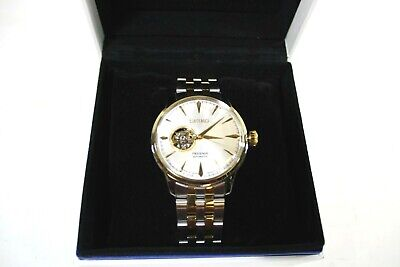 $ CDN381.51 • Buy Seiko Men's Presage Open Heart Automatic Two Tone Stainless Steel Watch SSA358