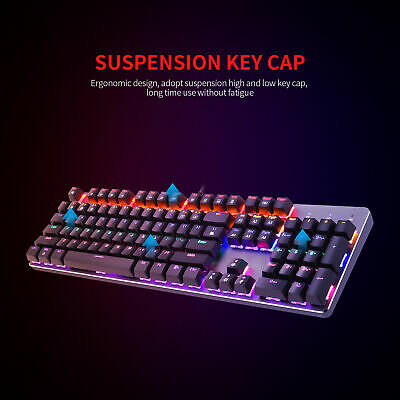 AU54.99 • Buy Motospeed K73 104 Keys Gaming Keyboard Mechanical Keyboard RGB Blue Switches AU
