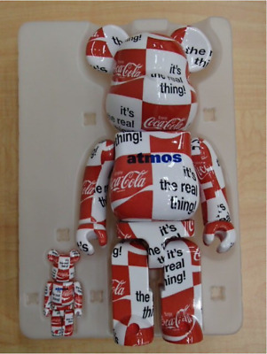 $303 • Buy ​BE@RBRICK Atmos X Coca-cola 100% 400% Bearbrick Medicom Toy W/ Box