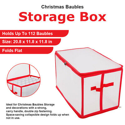112 Baubles - Christmas Tree Ornament Balls Storage Box Xmas Ornaments Organiser • 7.99£