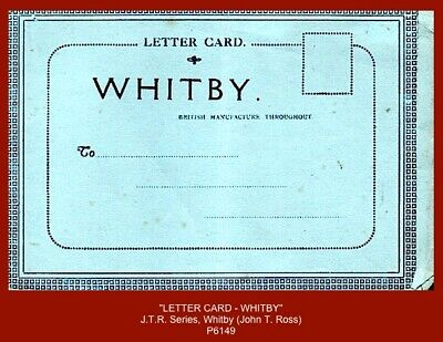 £3.50 • Buy  LETTER CARD - WHITBY   - Early 8 View Letter Card By J.T.R. Series (J.T. Ross)
