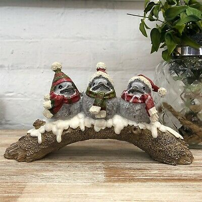 Vintage Indoor Novelty Christmas Birds On Branch Mantlepiece Ornament CLEARANCE • 12.99£