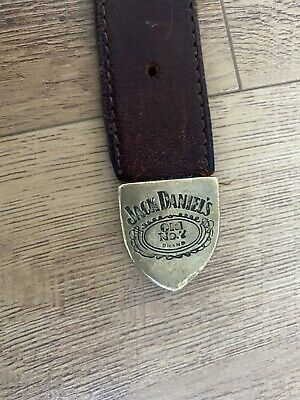 £19.99 • Buy Vintage Rare JACK DANIELS No2 COLLECTABLE BROWN LEATHER Brass BELT 45INCH