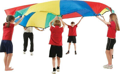 Kids Play Rainbow Parachute Outdoor Game Exercise Sport Group Activities **New • 18.49£