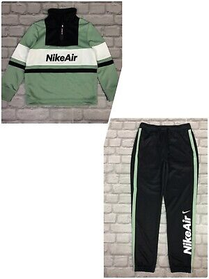 Nike Air Boys Poly U Nsw Green Black Track Suit Top Track Pants Rrp £65 Ad • 24.50£
