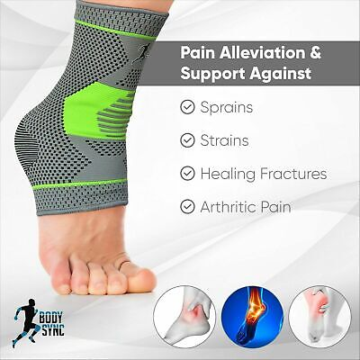 £4.69 • Buy Plantar Fasciitis Foot Compression Ankle Support Heel, Arch & Ankle