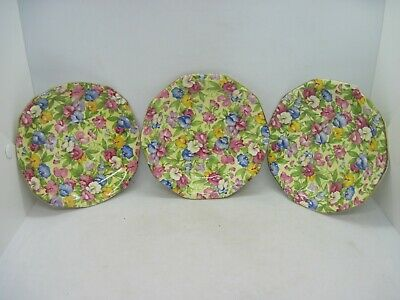 $ CDN21.22 • Buy 3 Royal Winton Grimwades Sweet Pea Chintz Deep Dessert Plates