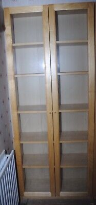 Double Ikea Billy Display Cabinet With Oxberg Glass Doors • 50£
