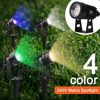 240V Mains COB LED Outdoor Garden Spotlights IP65 Outside Path Ground Spot Light • 9.59£